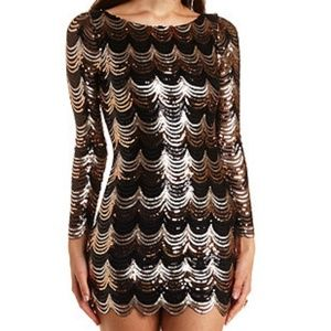 👗Scalloped Sequence Night Dress